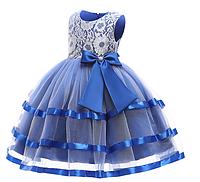 Незвичайне Ошатне мереживне електро сукня для дівчинки.Not ordinary Fancy lace electro dress for a girl2021, фото 1