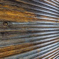 3д панель декоративна Сіро-Коричневий Бамбук (пластикові самоклеючі 3d панелі під дерево) 700x700x8 мм