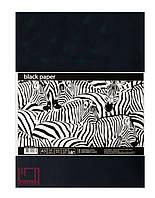 Черная бумага для рисования Офорт A3 10 листов (120г/м2) ВР3110Е