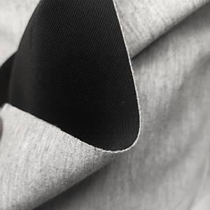 Трикотаж неопрен-дайвинг двусторонный серый - черный