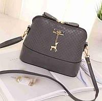 Женская сумка клатч Бэмби  Сумка Бемби Стильная женская сумка сумочка Бэмби! маленькая сумка Серая, фото 1