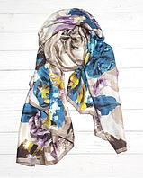 Шелковый шарф Каролина, 180*90 см, серый