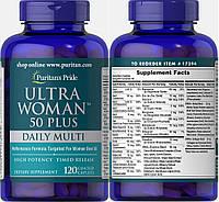 Puritan's Pride, Комплекс витаминов Ultra Woman 50+ Daily Multi для женщин, 120 таблеток