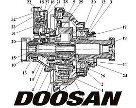Бортовая передача для спецтехники Doosan