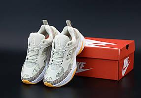 Женские кроссовки Nike M2K Tekno Camo кожаные (камуфляжные)