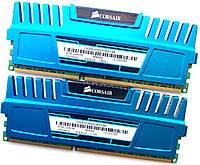 Комплект оперативной памяти Corsair Vengeance DDR3 8Gb KIT of 2 1600MHz PC3 12800U CL9 (CMZ8GX3M2A1600C9B) Б/У, фото 1