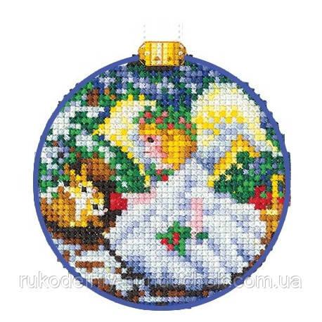 Набор для вышивки крестом Сделай Своими Руками Новогодние шары. Ангел. Н-26