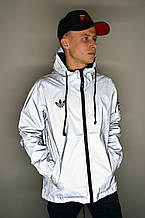 Рефлективная куртка в стиле Adidas Yeezy(Куртка Серая)
