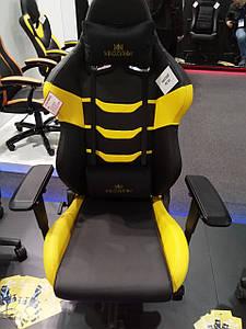 Геймерское кресло Хекстер HEXTER RC R4D TILT MB70 ECO/02 черно-желтое