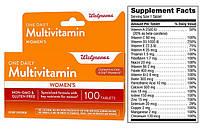 Walgreens, Комплекс витаминов и минералов, Витаминный комплекс с минералами One Daily для женщин, 100 таблеток