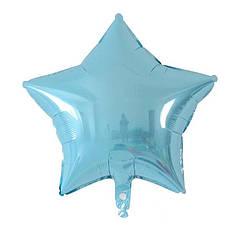 Шарик (45см) Звезда голубая