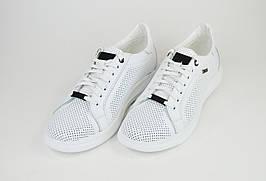 Кроссовки перфорированные Extrem 1736 Белые кожа