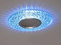 Встраиваемый светильник с светодиодной подсветкой 2302WH+BL, фото 1