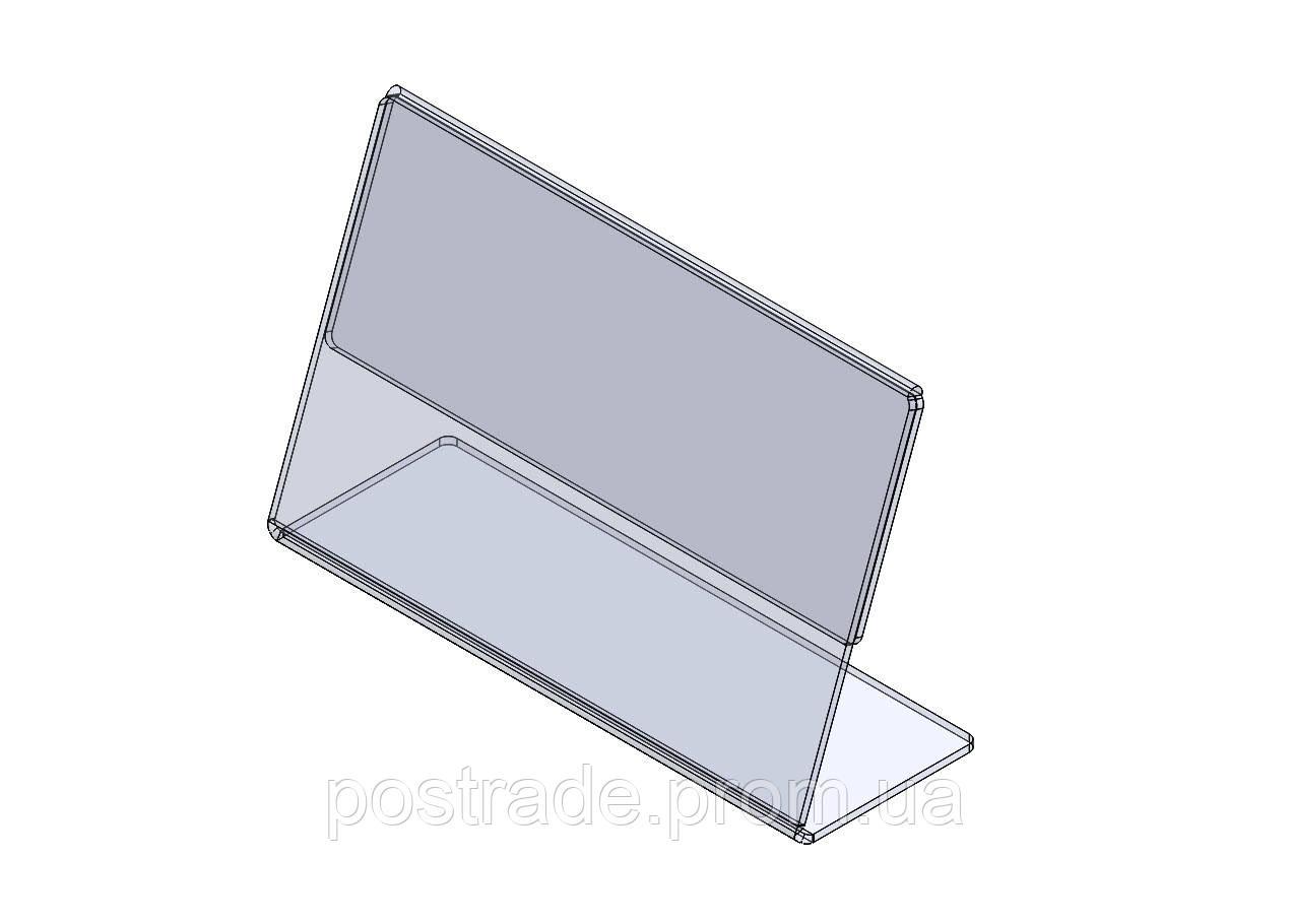 Ценникодержатель L-образный пластиковый, 60*40 мм