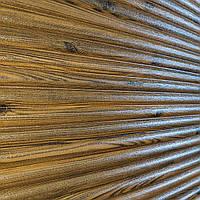 3д панель декоративна Бамбук Дерево (самоклеючі пластикові панелі 3d під дошки дерев'яний) 700x700x8 мм