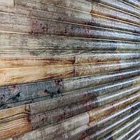 3д панель декоративна Бамбук Мікс (пластикові самоклеючі 3d панелі під дерево на стіни) 700x700x8 мм