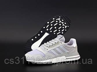Мужские кроссовки  Adidas ZX 500 RM Cream (серые)