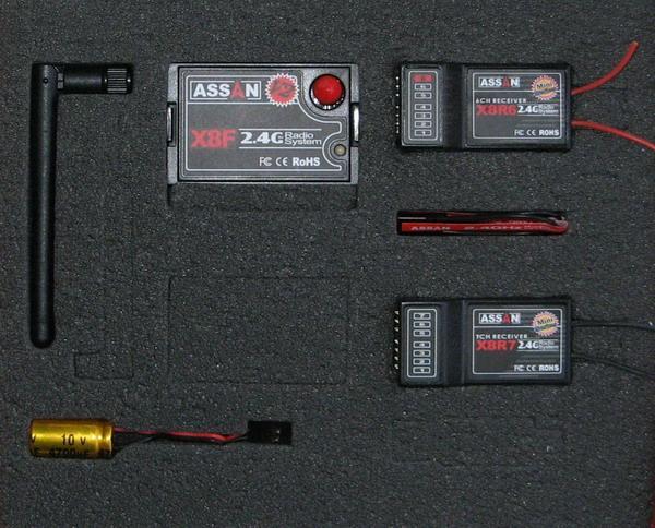 ASSAN 2,4 Ghz RF set Futaba/ Hitec