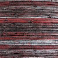 3д панель декоративна Червоно-Сірий Бамбук (пластикові самоклеючі 3d панелі під дерево) 700x700x8 мм