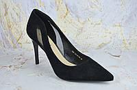 Классические туфли женские на шпильке Asttaly ЗАМША 100%