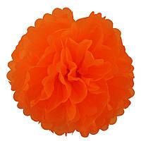 Декор бумажные Помпоны 25см (оранжевый 0011)