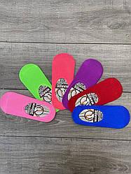 Жіночі сліди мікрофібра Marde однотонні 35-40 12 шт в уп мікс з 6 кольорів