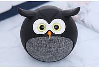 Детская портативная колонка Bluetooth iCutes Сова с функцией громкой связи, черная