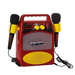 Беспроводная портативная Bluetooth колонка Speaker 06058B с двумя микрофонами