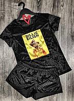 Пижамный комплект футболка+шорты Billie Eilish 609 .