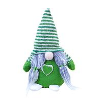 Гном игрушка оберег для дома, цвет зеленый NewDWay (2702)