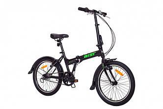 """Велосипед складной AIST Compact 2.0 20"""" Черный, планетарная втулка"""