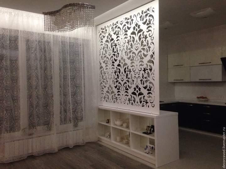 Декоративна різьблена панель і перегородка  019 вітальні