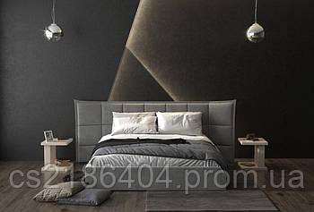 Двоспальне ліжко в високій високоякісній тканині Шик Галичина Рікардо