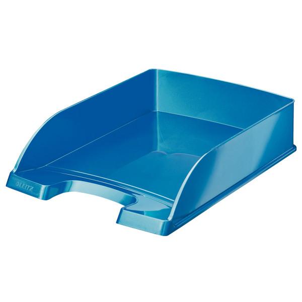 Горизонтальный лоток Leitz WOW, синий металик, арт.5226-30-36