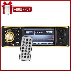 "Мощная автомагнитола Lesko 4019B WinCE TFT диагональ 4.1"" bluetooth 1DIN с USB microSD AUX звонки FM 2 пульта"