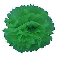Декор бумажные Помпоны 25см (зеленый)