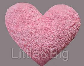 Плюшевая игрушка  Подушка-сердце Розовая 30 см