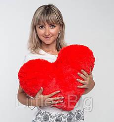 Плюшевая игрушка  Подушка-сердце Розовая 50 см