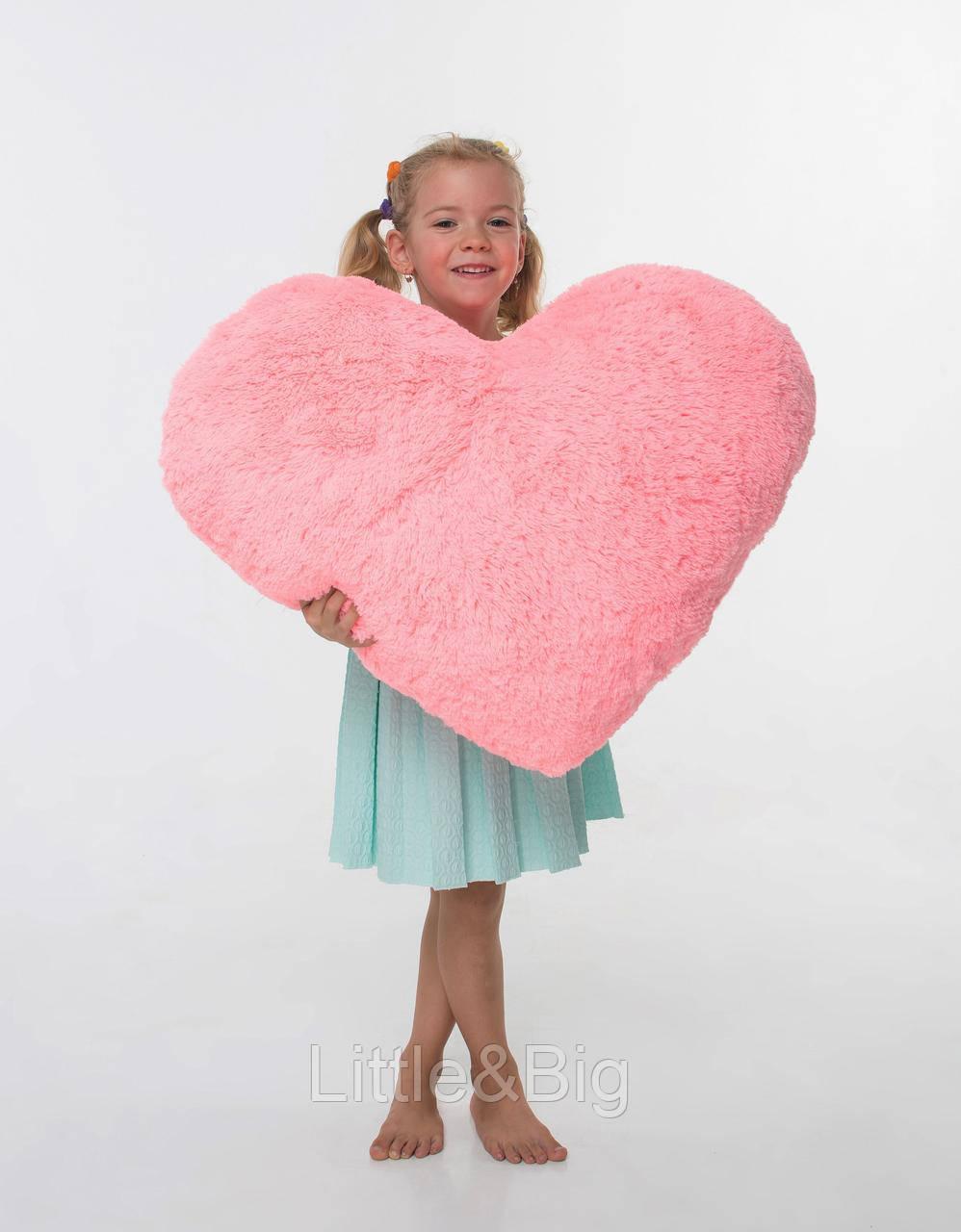 Плюшевая игрушка  Подушка-сердце Розовая 75 см