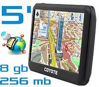 GPS навигатор COYOTE 556 MATE PRO 5 дюймов RAM 256 mb ROM 8 Gb с картами навигации