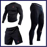 Комплект Reebok  3 в 1 рашгард+шорты+леггинсы (одежда компрессионная)