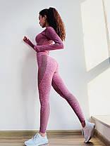 """Женский спортивный костюм для фитнеса лосины + топ """"Розовый"""", фото 2"""