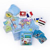 """Европа. Часть 1 - географическая развивающая игра """"Мемори+: Страны, столицы, флаги"""""""