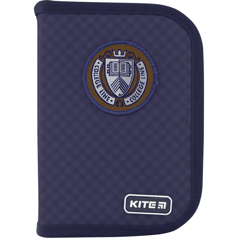 Пенал с наполнением KITE Education College line blue 622H