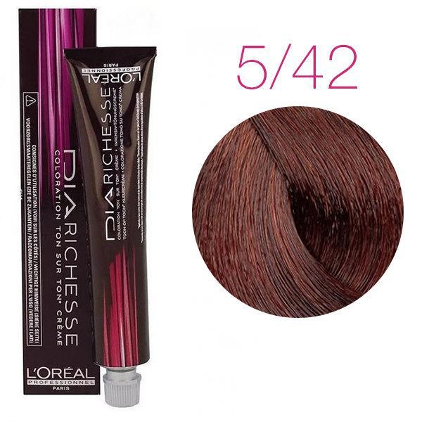 Краска для волос LOreal Professionnel  Dia Richesse  5.42 коричневый махагоновый