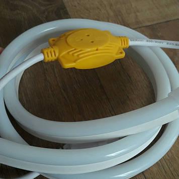 Комплект LED Neon Flex 220v 3м + адаптер питания белый