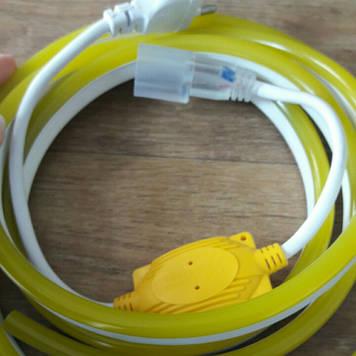 Комплект LED Neon Flex 220v 3м + адаптер питания желтый