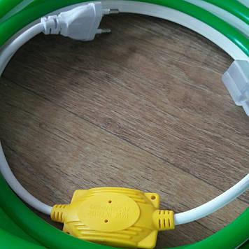Комплект LED Neon Flex 220v 3м + адаптер питания зеленый