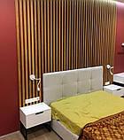 Декор стен рейками  из натурального дерева в интерьере, фото 5