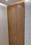 Декор стен рейками  из натурального дерева в интерьере, фото 8
